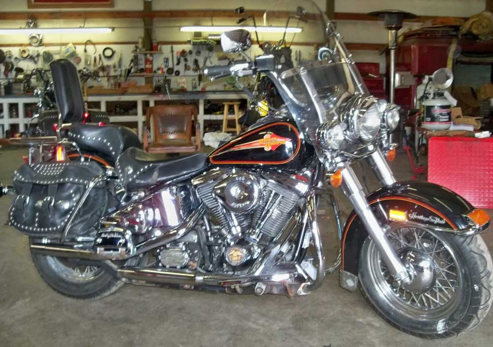 1992 Softail Custom Harley-Davidson Motorcycle with Engine Upgrades for Sale